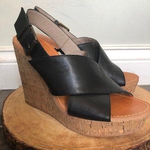 Hinge Cork Wedge Sandals Size 7